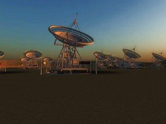 Grafika przedstawiająca naziemne anteny radarowe