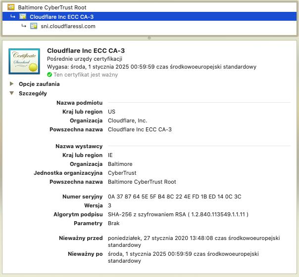Zrzut ekranu zwłaściwościami certyfikatu